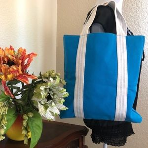 Michael Kors Turquoise Canvas Tote